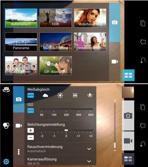 Kamera-Einstellungen Asus Fonepad Note 6