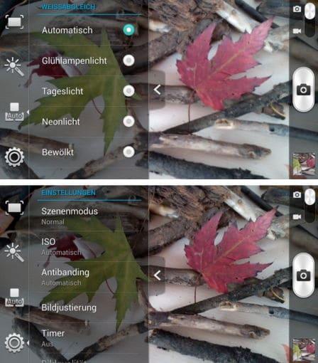 Kamera-Einstellungen Huawei Ascend G700