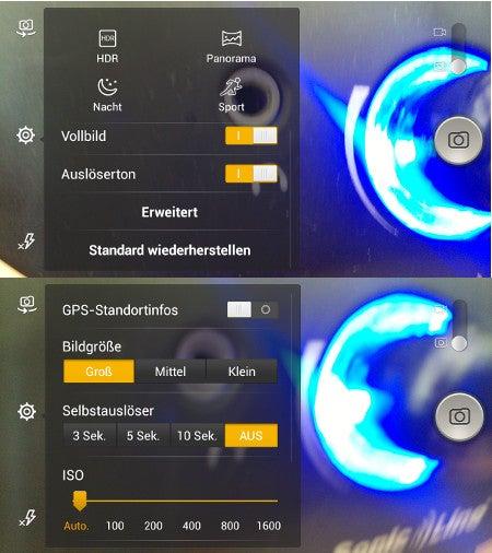 Kameramodi des Alcatel One Touch Idol Alpha