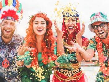 Kostümierte Gruppe