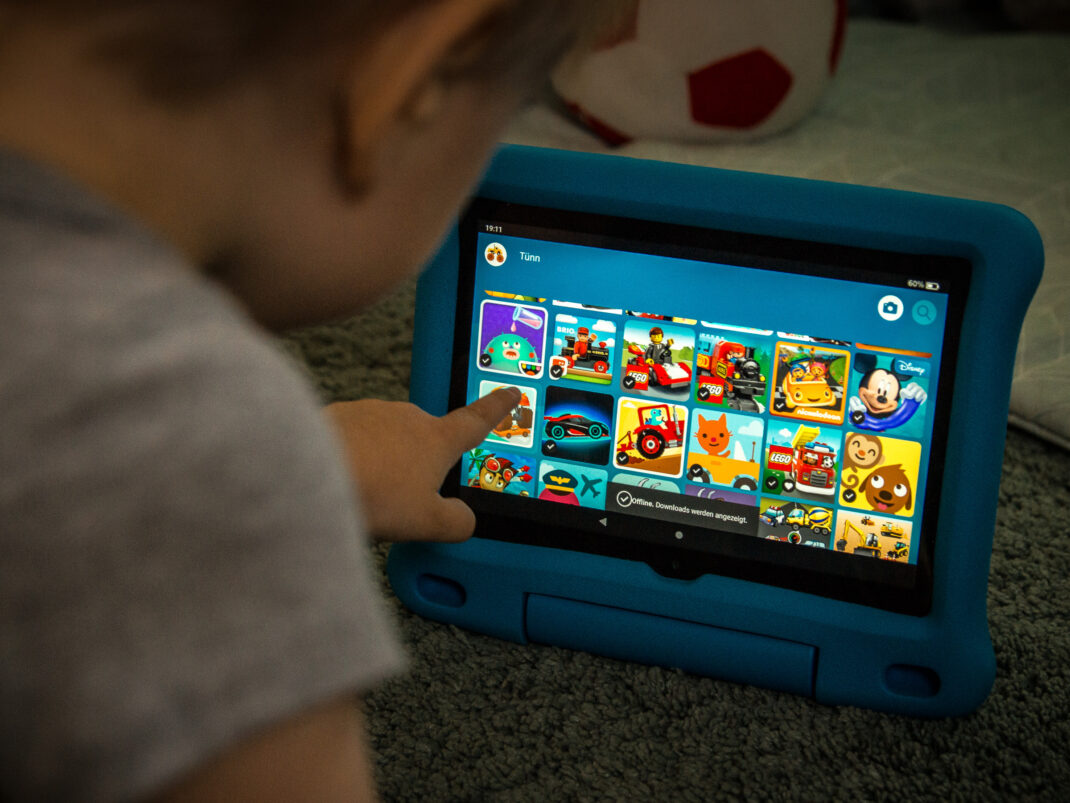 Kinder-Tablet im Test: Der Startbildschirm des Amazon Fire HD 8 Kids Edition