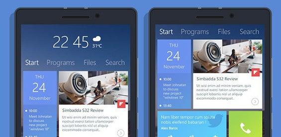 Konzept Windows 10 auf einem Smartphone