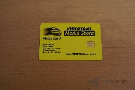 Kredit- bzw. Videothek-Karte