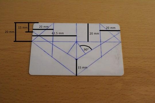 Kredit- bzw. Videothek-Karte Schritt 1