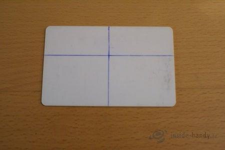 Kredit- bzw. Videothek-Karte Schritt 2
