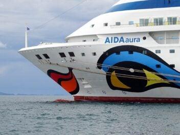 Die AidaAura - ein Kreufahrtschiff der Aida-Flotte