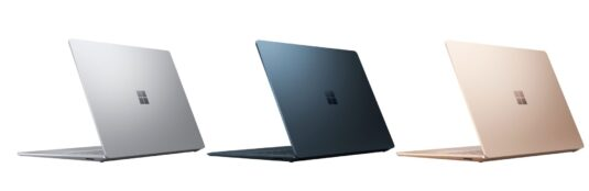Alle 3 Farben des Surface Laptop 3