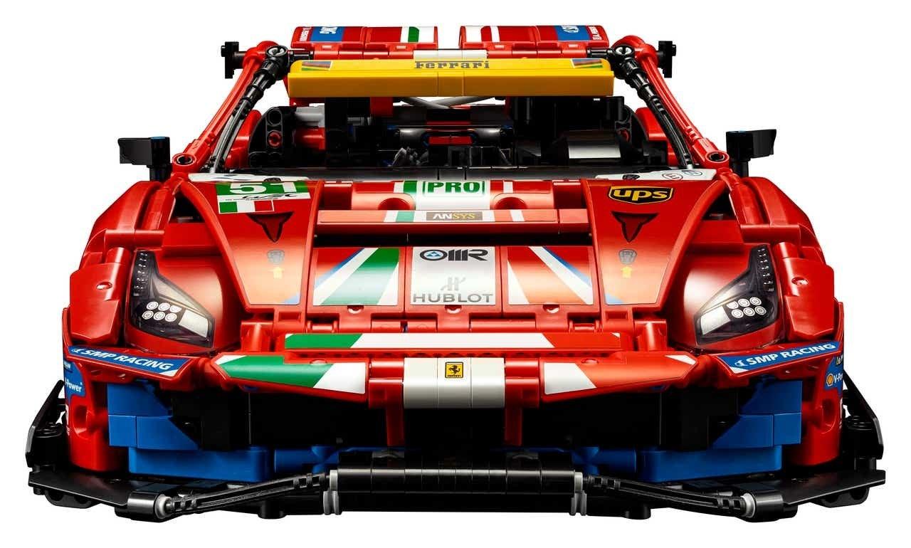 Lego Technic Ferrari 488 GTE Bausatz 42125 Frontansicht