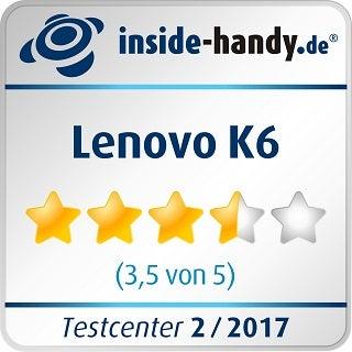 Lenovo K6: Testsiegel