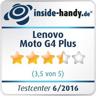 Testsiegel des Lenovo Moto G4 Plus