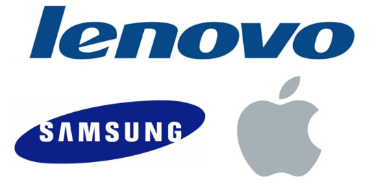 Lenovo, Samsung, Apple