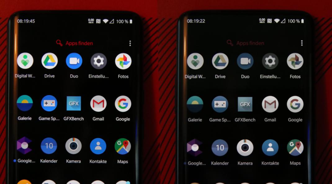 Lesemodus des OnePlus 7T Pro