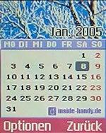 LG C2200 : Display Kalender