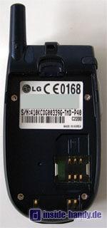 LG C2200 : Rückseite ohne Akku