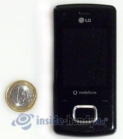 LG Electronics Chocolate UMTS: Größenverhältnis