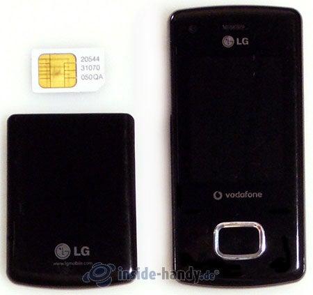 LG Electronics Chocolate UMTS: in Bestandteile zerlegt