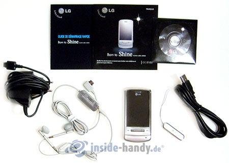 LG Electronics KE970: Lieferumfang