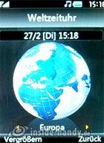 LG Electronics KE970: Weltzeituhr