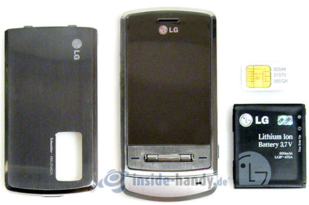 LG Electronics KE970: zerlegt in Bestandteile