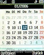 LG Electronics KG320S: Kalender
