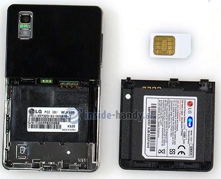 LG Electronics KS20: offenes Gerät hinten