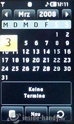 LG Electronics Prada Phone: Kalender