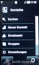LG Electronics Prada Phone: kontakte