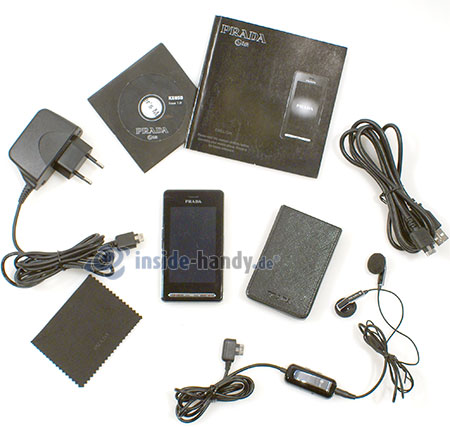 LG Electronics Prada Phone: Lieferumfang