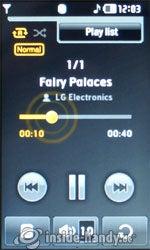 LG Electronics Prada Phone: Music Player