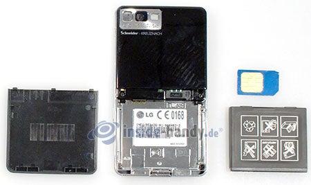 LG Electronics Prada Phone: offenes Gerät hinten