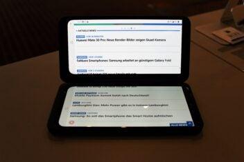 LG G8X ThinQ mit Dual Screen im erweiterten Modus
