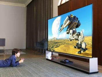 LG-Fernseher der OLED-Serie in einem Wohnzimmer