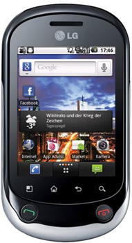 LG Optimus Chat Datenblatt - Foto des LG Optimus Chat