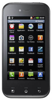 LG Optimus Sol Datenblatt - Foto des LG Optimus Sol