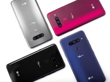 LG V40 ThinQ: Die Rückseite in allen vier Farben