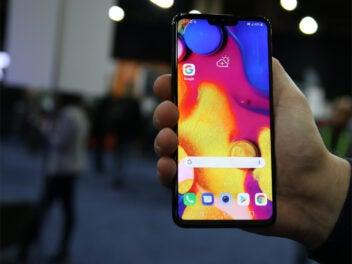 Das LG V40 ThinQ auf der CES 2019