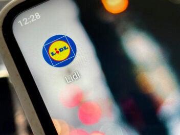 Lidl App Icon auf einem Smartphone