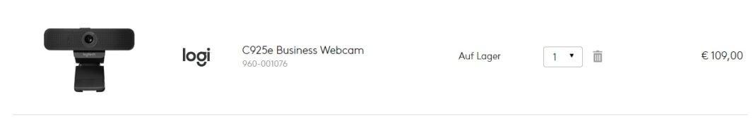 Logitech-Webcam im Online-Shop