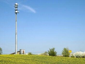 LTE-Basisstation auf dem Land