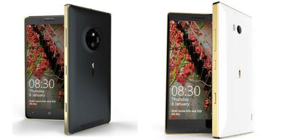 Lumia 830 und Lumia 930 Gold Edition