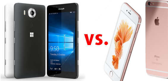 Lumia 950 vs. iPhone 6s