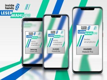 Samsung Galaxy J6+, Huawei Mate 20 Lite und Huawei Mate 20 Pro sind die Gewinner der Leserwahl 2018