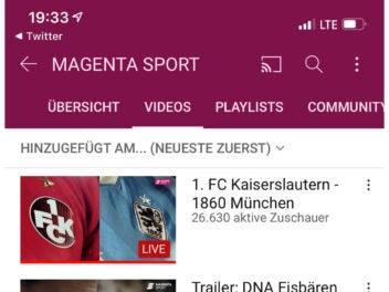Magenta Sport YouTube
