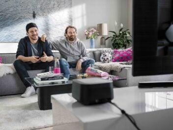 Ein Motiv aus der Werbekampagne Euro 2020 auf Magenta TV