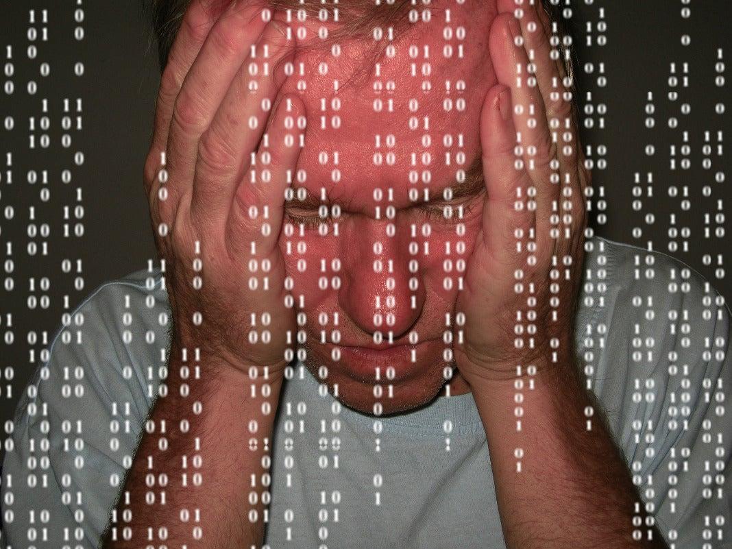 Mann hinter Datencode