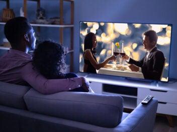 Mann, Frau, Pärchen, Fernseher, TV