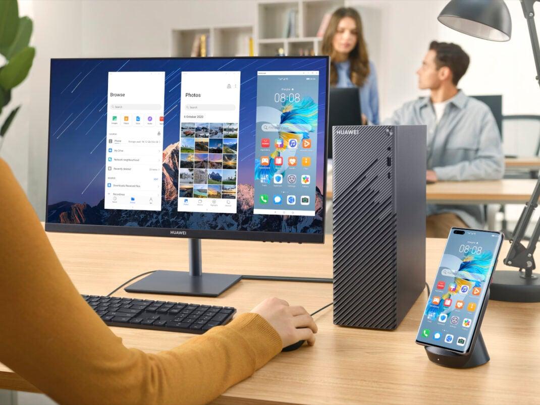 Die HUAWEI MateStation S kann mit dem Smartphone gepaired werden.