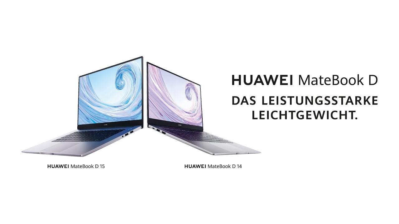 Huawei stellt neues MateBook D14 und MateBook D15 vor