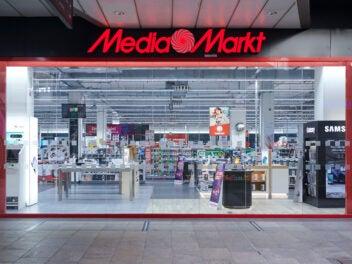 MediaMarkt-Eingang in einem Einkaufszentrum