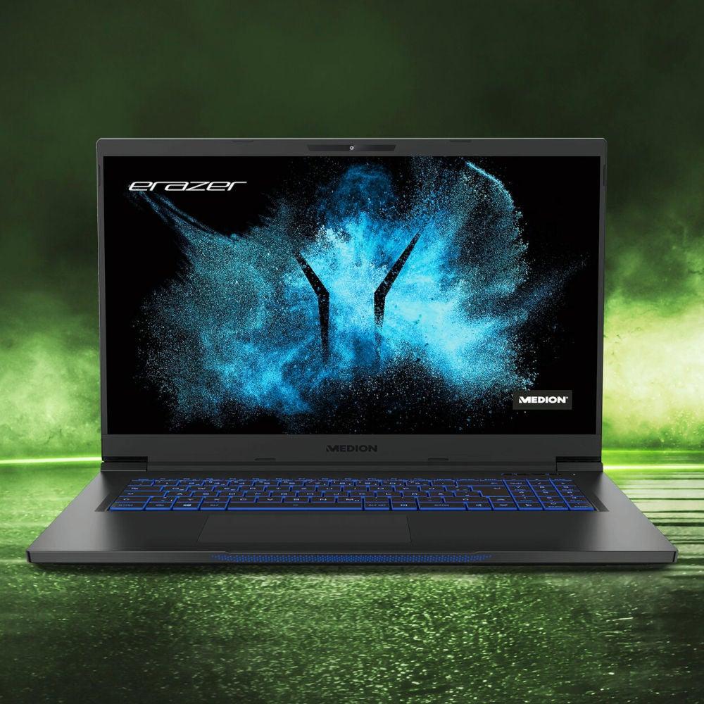 Medion Erazer Beast X25 Gaming Notebook Front.
